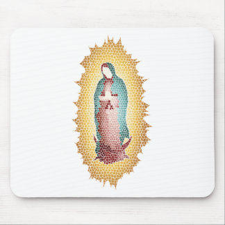 Our Lady Of Guadalupe Mosaic Design Mouse Pad
