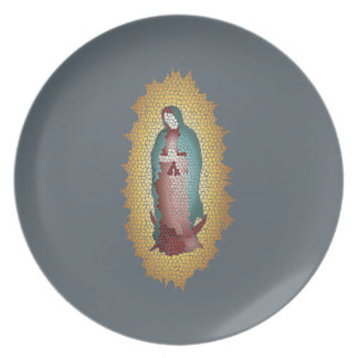 Our Lady Of Guadalupe Mosaic Design Plate