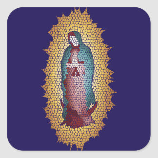 Our Lady Of Guadalupe Mosaic Design Square Sticker