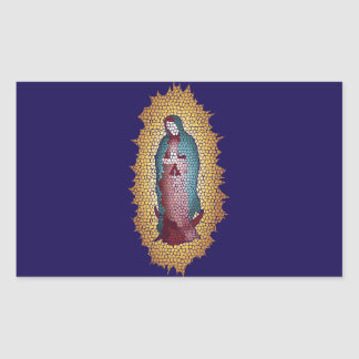 Our Lady Of Guadalupe Mosaic Design Sticker