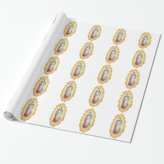 Our Lady Of Guadalupe Mosaic Design Wrapping Paper