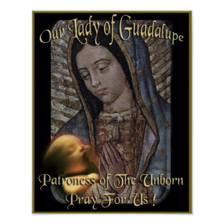 Our Lady of Guadalupe Patroness of The Unborn Poster
