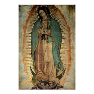 Our Lady of Guadalupe Tilma Replica Poster