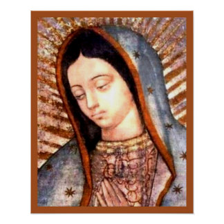 Our Lady of Guadalupe Tilma Virgin Mary Bust Poster