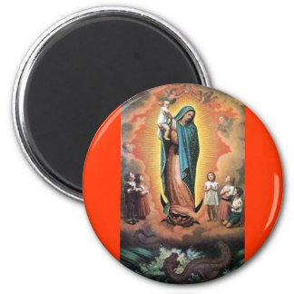OUR LADY OF GUADALUPE VIRGIN TRADITIONAL CATHOLIC 2 INCH ROUND MAGNET