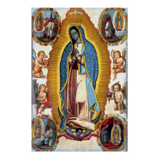 Our Lady of Guadalupe Visions Poster