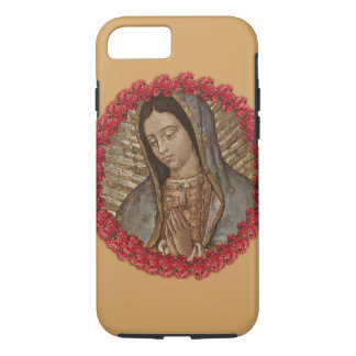 OUR LADY OF GUADALUPE WITH SPANISH ROSES iPhone 7 CASE