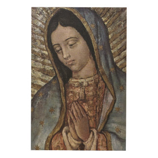 Our Lady of Guadalupe. Wood Canvas