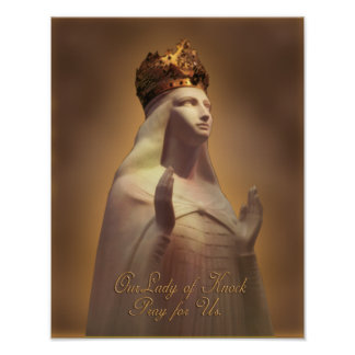 OUR LADY OF KNOCK PRAY FOR US POSTER