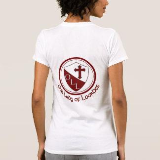 Our Lady of Lourdes Bella Vneck Ladies w/ NAME T-Shirt