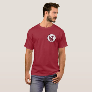 Our Lady of Lourdes Mens Basic TShirt Maroon