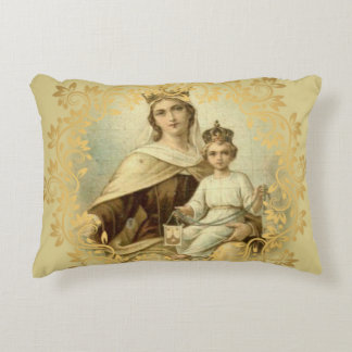 Our Lady of Mount Carmel Baby Jesus Scapular Decorative Pillow