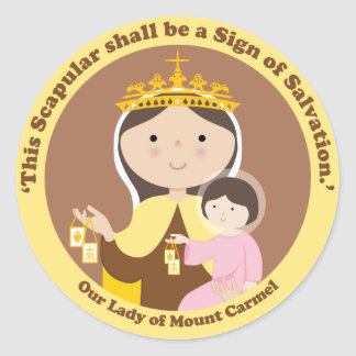 Our Lady of Mount Carmel Classic Round Sticker
