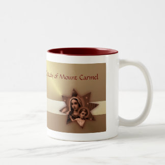 Our Lady of Mount Carmel religious holy day Two-Tone Coffee Mug