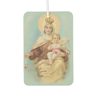 Our Lady of Mount Carmel with the Baby Jesus Car Air Freshener