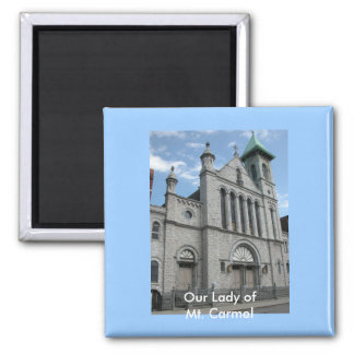 Our Lady of Mt. Carmel Church Square Magnet
