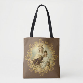 Our Lady of Mt. Carmel & St. Therese of Lisieux Tote Bag