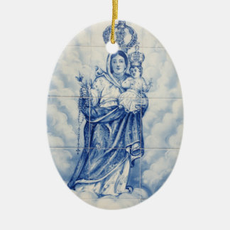 Our Lady of Peace Ceramic Ornament