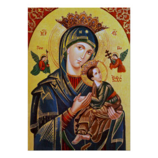 OUR LADY OF PERPETUAL HELP ICON POSTER