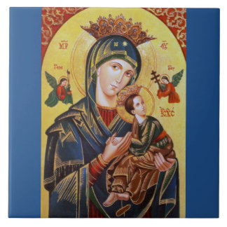OUR LADY OF PERPETUAL HELP ICON TILE