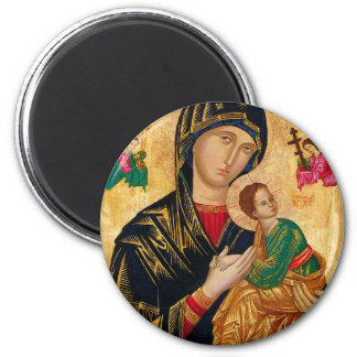 Our Lady of Perpetual Help Icon Virgin Mary Art Magnet