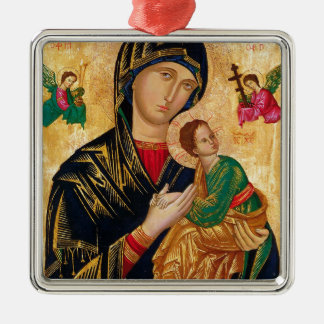 Our Lady of Perpetual Help Icon Virgin Mary Art Metal Ornament