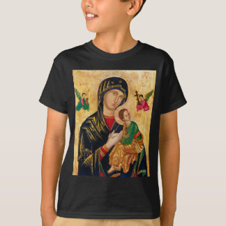Our Lady of Perpetual Help Icon Virgin Mary Art T-Shirt