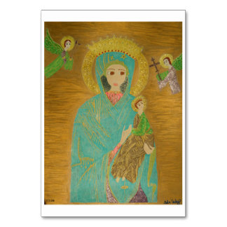 Our Lady of Perpetual Help Table Card