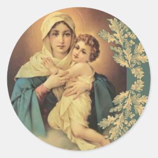 Our Lady of Schoenstatt Virgin Mary Jesus Classic Round Sticker