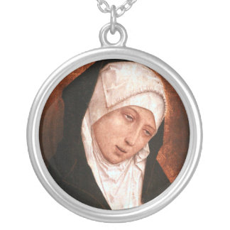 Our Lady of Sorrows Silver Plated Necklace