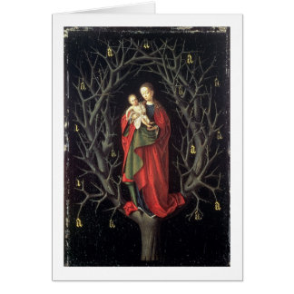 Our Lady of the Dry Tree c.1450 (oil on panel) Greeting Card