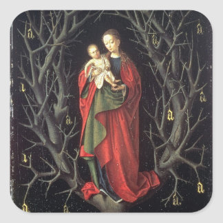 Our Lady of the Dry Tree c.1450 (oil on panel) Square Sticker