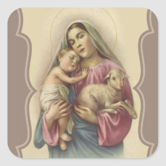 Our Lady of the Good Shepherd Baby Jesus Square Sticker