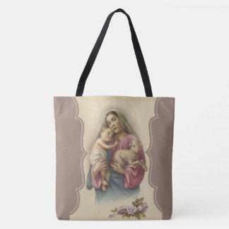 Our Lady of the Good Shepherd Jesus Lamb Tote Bag