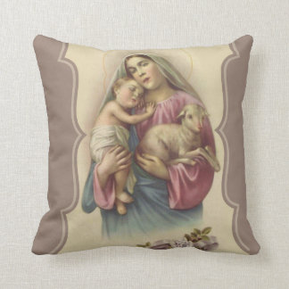 Our Lady of the Good Shepherd Throw Pillow