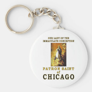 OUR LADY of the IMMACULATE CONCEPTION Basic Round Button Keychain