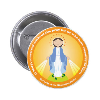 Our Lady of the Miraculous Medal 2 Inch Round Button