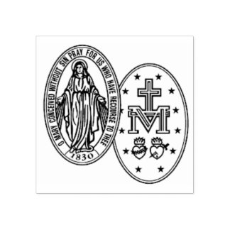 our Lady of the Miraculous Medal Rubber Stamp