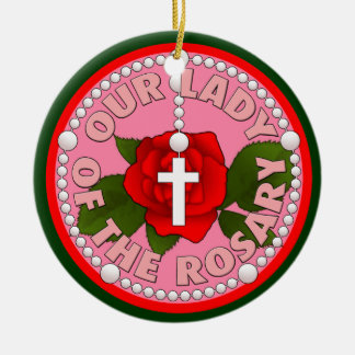 Our Lady of the Rosary Ceramic Ornament