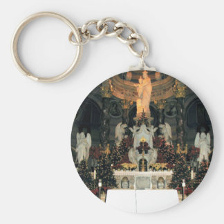 Our Lady of Victory Basilica Main Altar -Christmas Basic Round Button Keychain