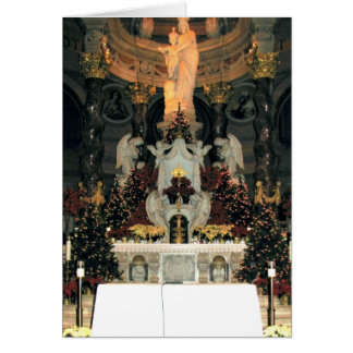 Our Lady of Victory Basilica Main Altar -Christmas Greeting Card
