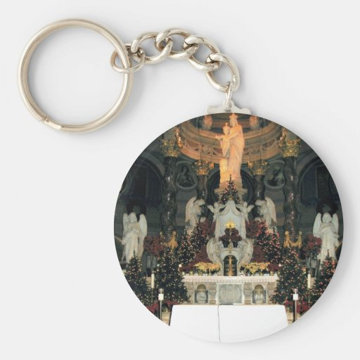 Our Lady of Victory Basilica Main Altar -Christmas Keychain