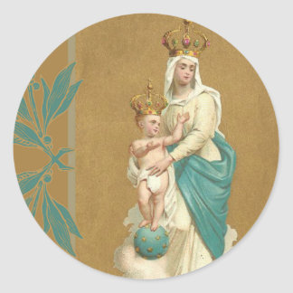 Our Lady of Victory Child Jesus Classic Round Sticker