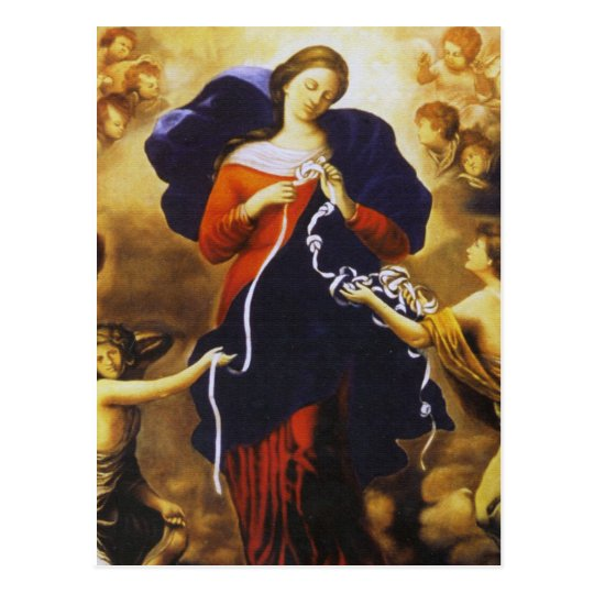 OUR LADY UNDOER OF KNOTS DEVOTIONAL IMAGE POSTCARD