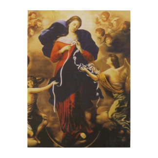 OUR LADY UNDOER OF KNOTS WOOD WALL DECOR