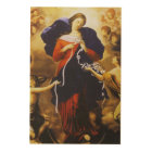 Our Lady Untier of Knots. Wood Print