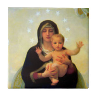 Our Lady Virgin Mary & Baby Jesus Ceramic Tile