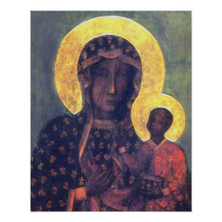 Our Lady Virgin Mary Black Madonna of Czestochowa Poster