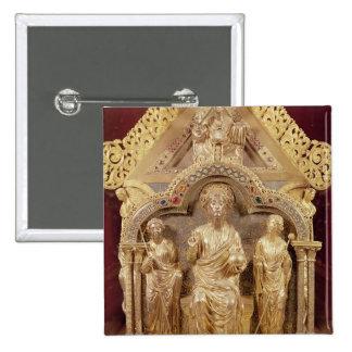 Our Lady's Shrine of Notre-Dame de Tournai 2 Inch Square Button