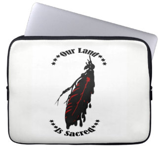 OUR LAND IS SACRED LAPTOP SLEEVE